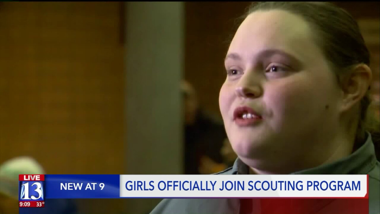 Organization formerly known as Boy Scouts welcomes Utahgirls