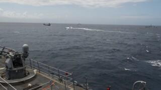 Photos: USS Kauffman, Coast Guard team, and Royal Canadian Navy ships seize $33.9 million ofcocaine