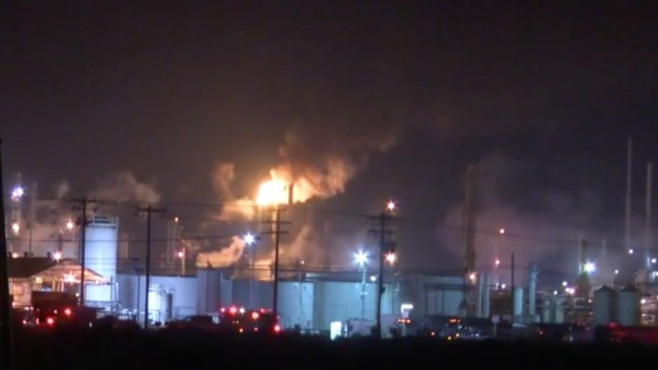 Fire reported at Kern Oil & Refining Co.