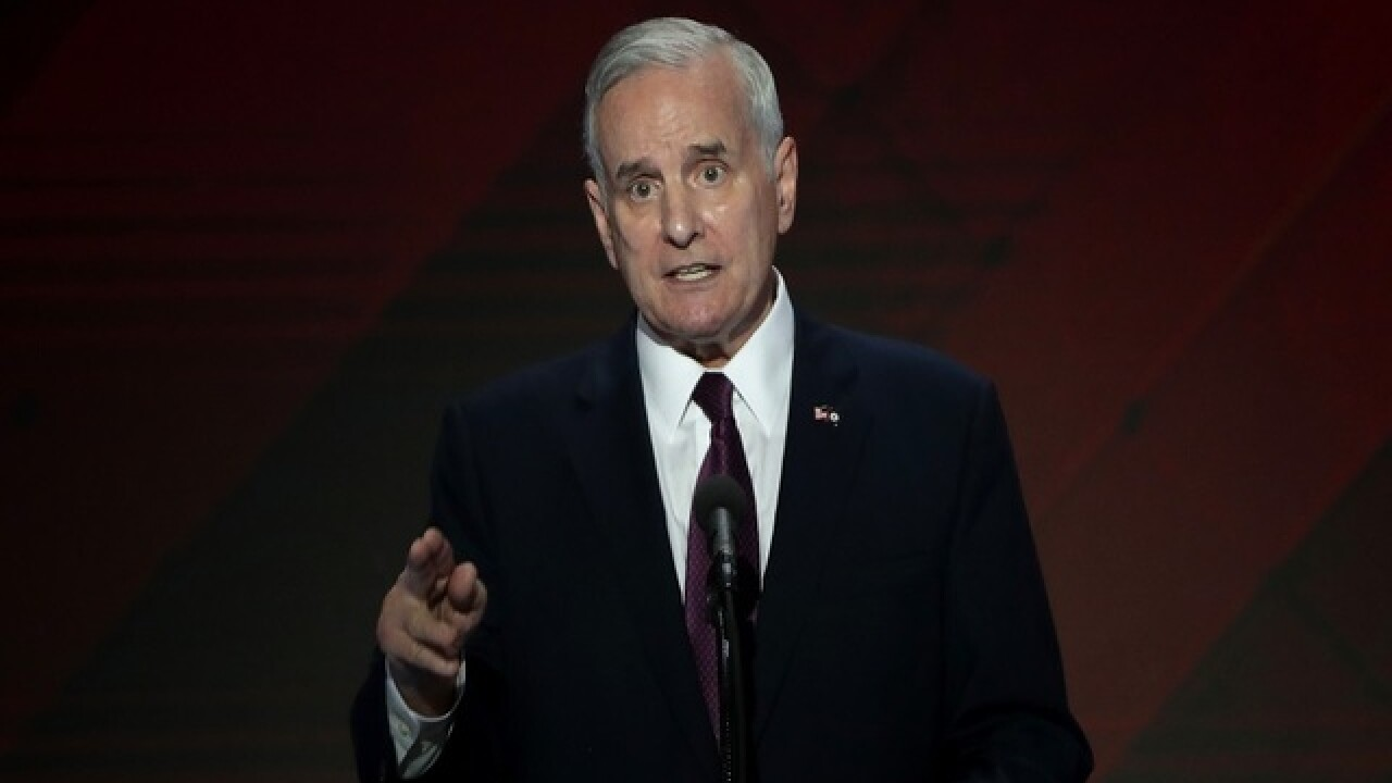 Minnesota governor back at podium a day after collapse