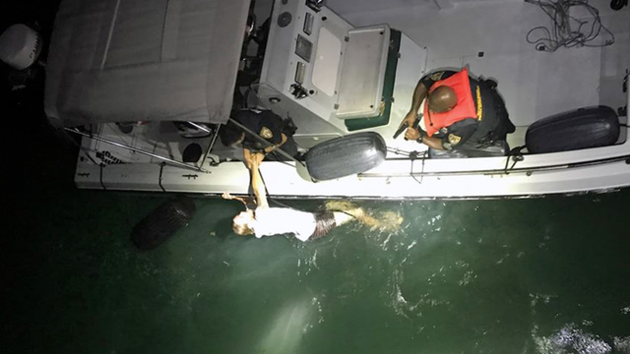 Fleeing suspect rescued from the water in the Keys