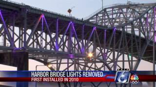 Lights removed from Harbor Bridge