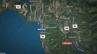 Car crash near Bigfork leaves one man dead