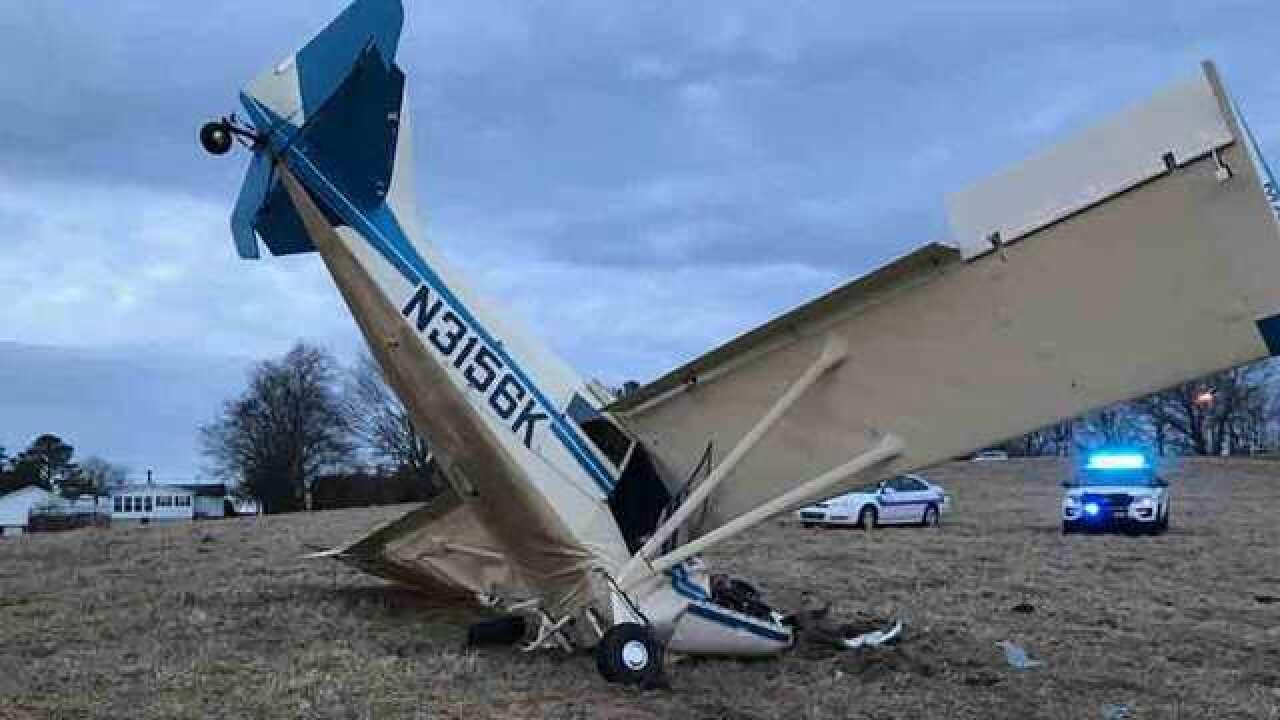 Pilot Injured In Single-Engine Plane Crash