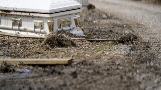 Caskets Remain Displaced More Than A Month After Hurricane Ida