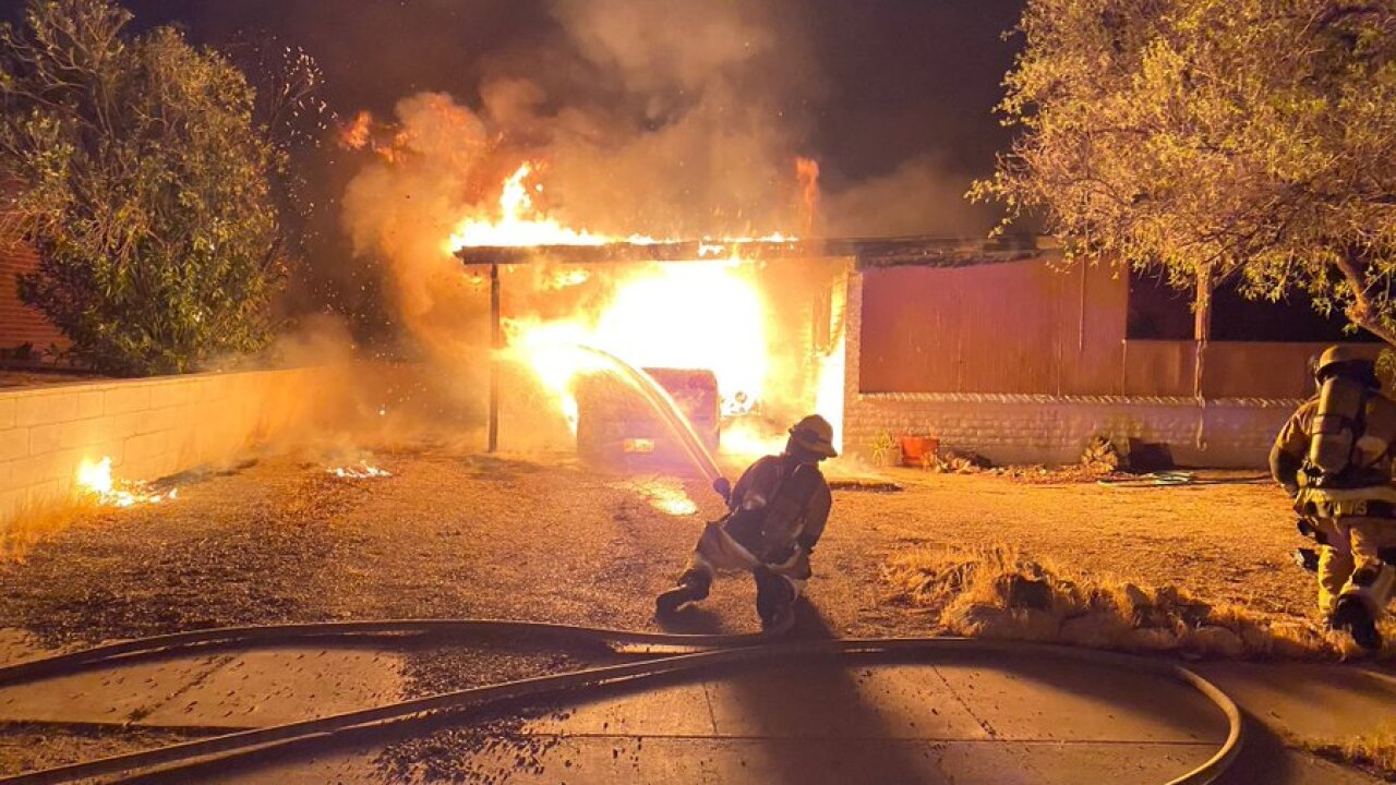 The second fire started in a carport at a home in the 8100 block of East Victoria. Five residents were forced to find another place to stay. No one was injured.