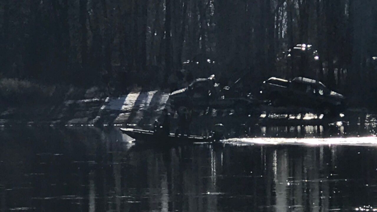 Old STeel Bridge Submerged Vehicle