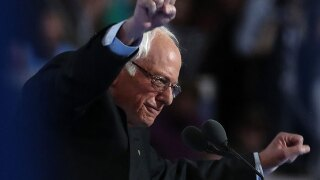 Bernie Sanders gets rousing, emotional reception at DNC