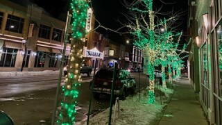 Green Bay's Washington Street decorated in green and gold lights 3