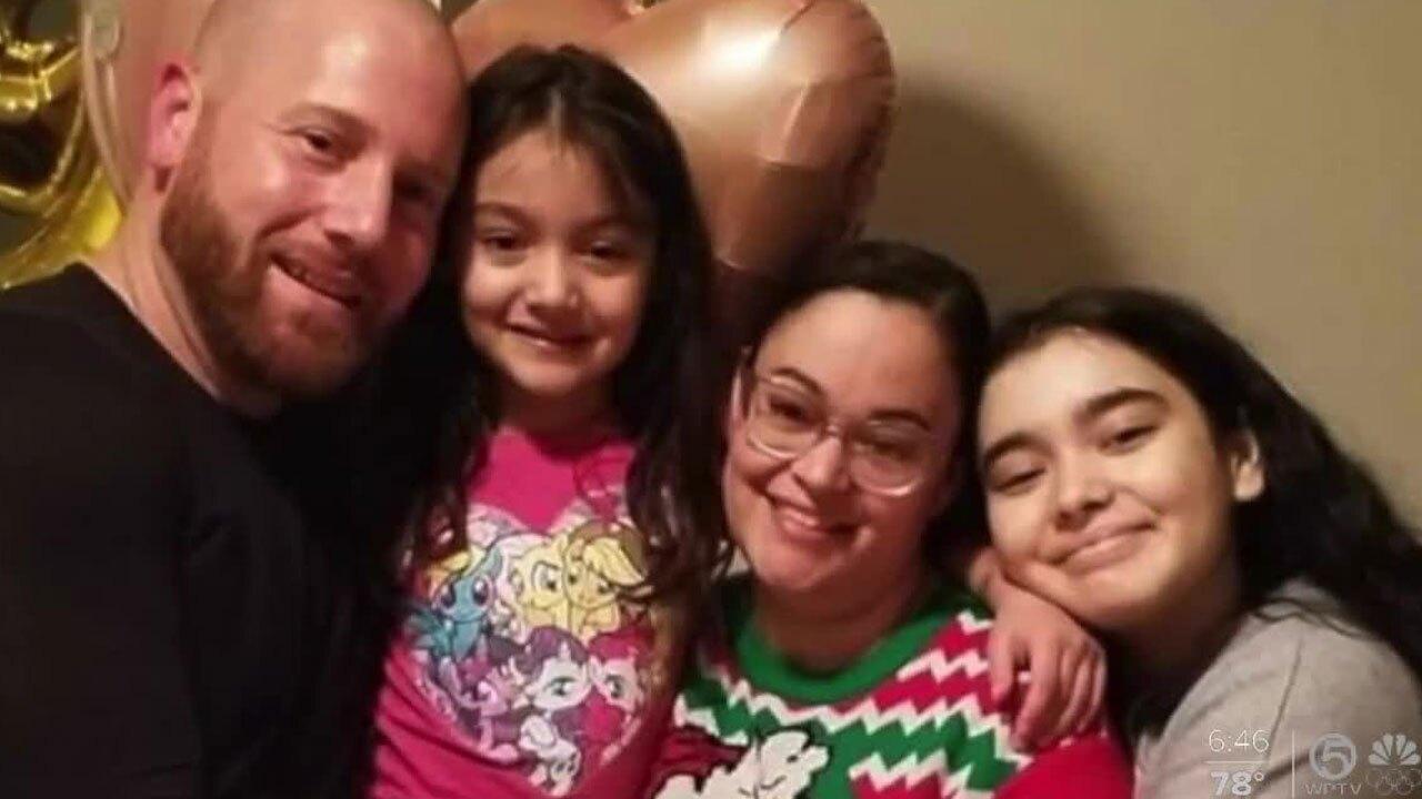 Naomi Schwartz with her family
