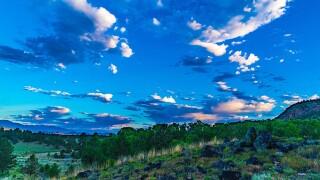 Summer sunrise in Westcliffe, Colorado