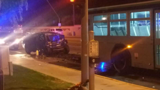 Man dies after car crashes into city bus in Mesa
