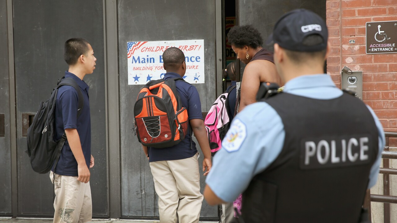 More than 14 million kids go to a public school with police but no mental health staff. That's bad, ACLU says