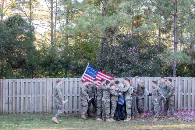 PHOTOS: Special baby reveal after military husband killed, servicemen step in