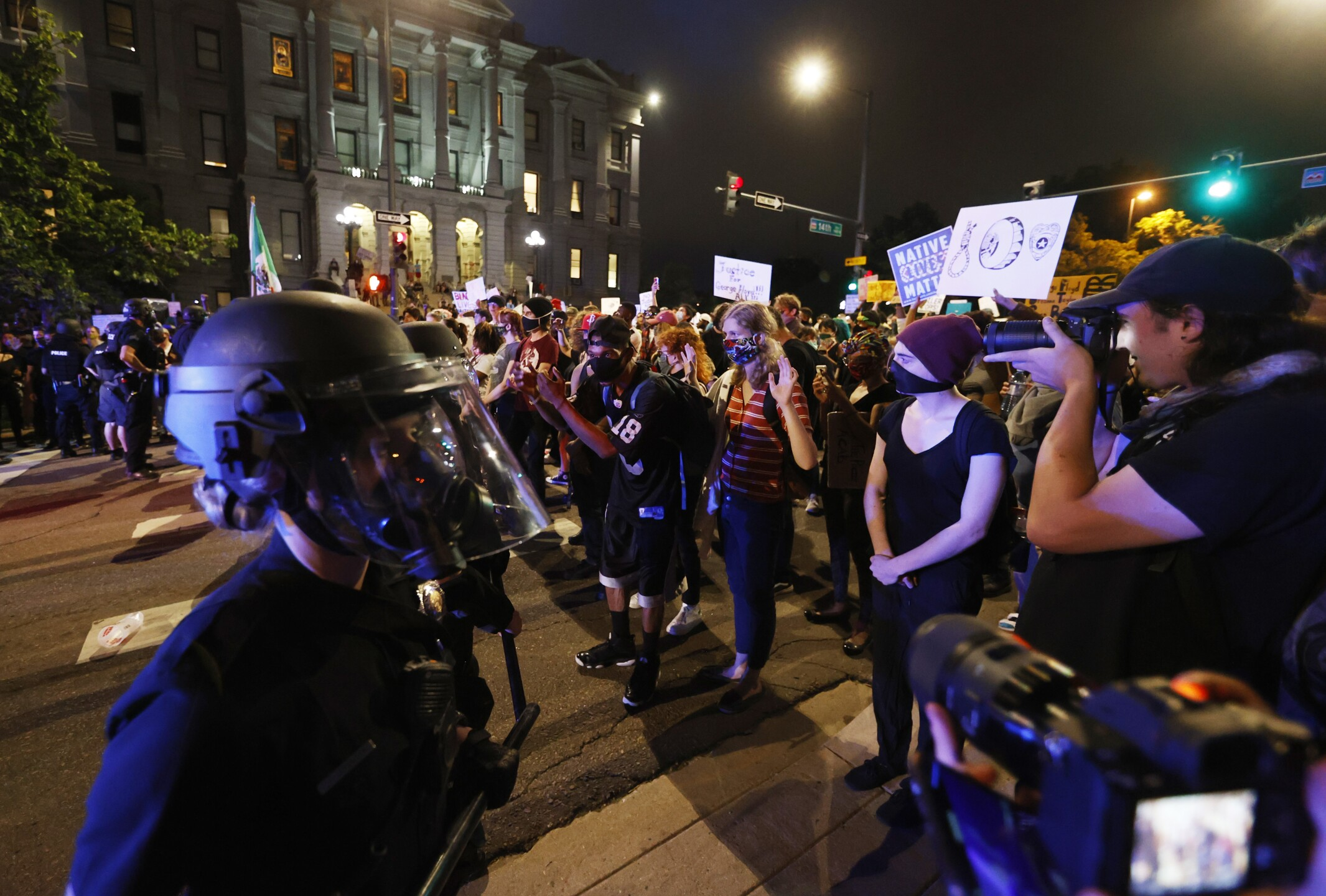 Images from Denver's George Floyd protests Thursday night