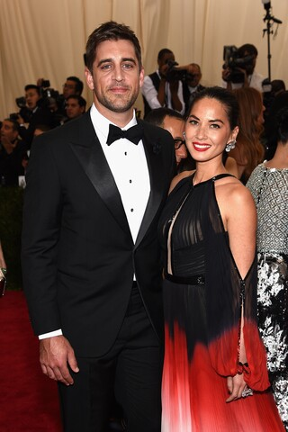 Aaron Rodgers and Olivia Munn in Photos