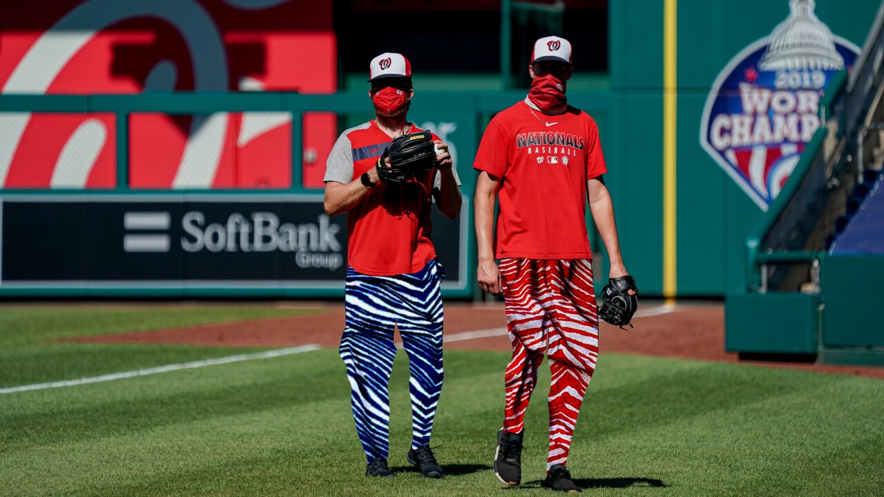 Washington Nationals wear Zubaz pants for Blue Jays first 'home' game