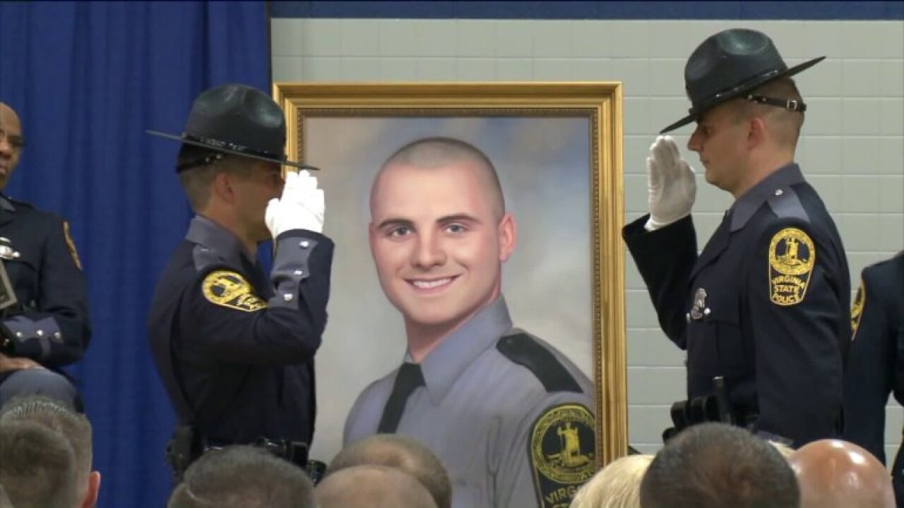 Portrait of fallen Virginia State Police Trooper Lucas Dowell unveiled
