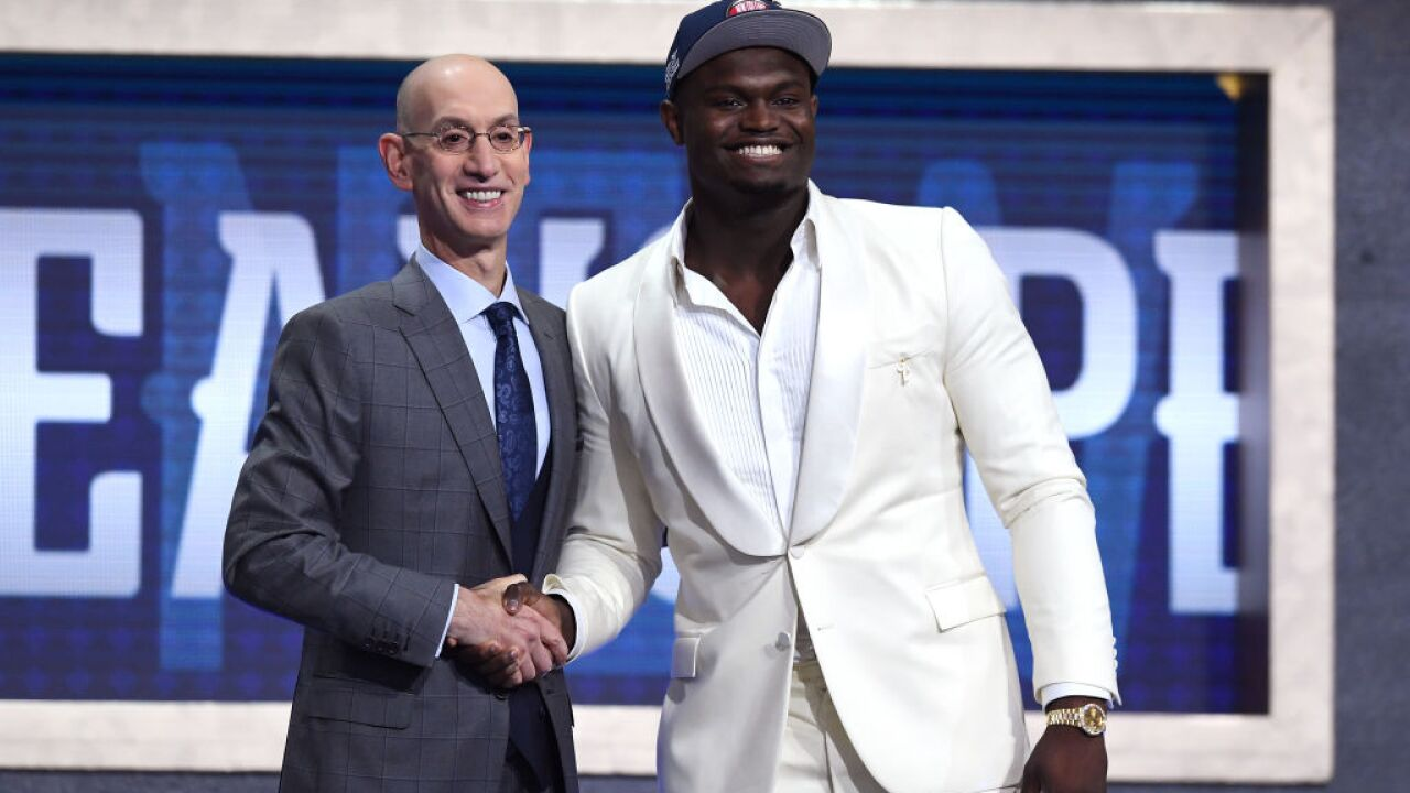 Zion Williamson headed to New Orleans as NBA draft No. 1 pick