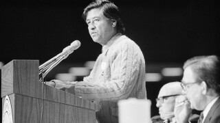 George Meany,  Cesar Chavez