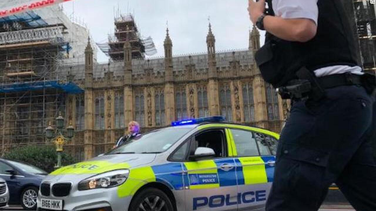 Crash outside UK Houses of Parliament treated as terror incident, police say