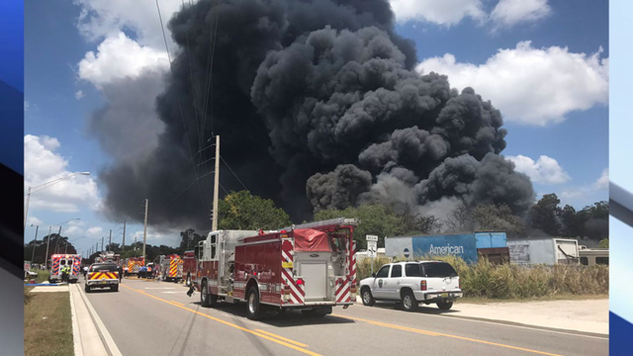 5 Alarm Structure Fire In Manatee County