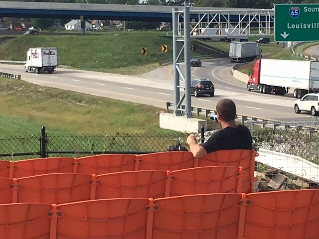 PHOTOS: Park to watch interstate traffic opens near Fountain Square