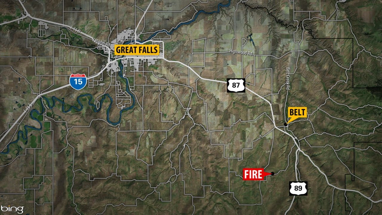 Fire destroys house near Armington Junction