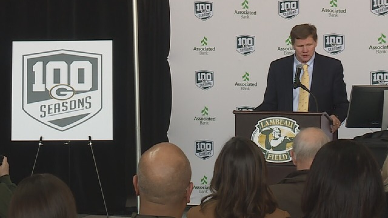 Packers rollout their '100 season' celebration plan