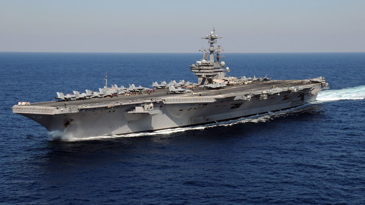 USS George H.W. Bush begins eight-month maintenance period at Norfolk Naval Shipyard