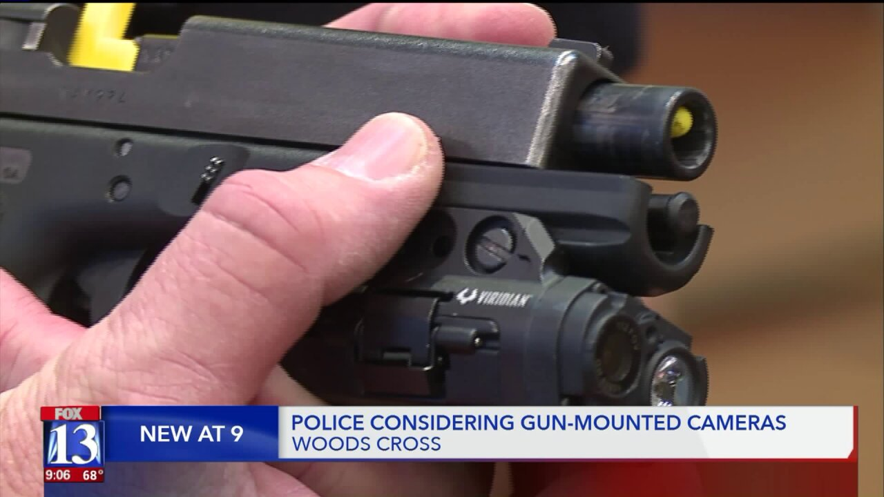 Woods Cross Police to try out gun-mounted cameras