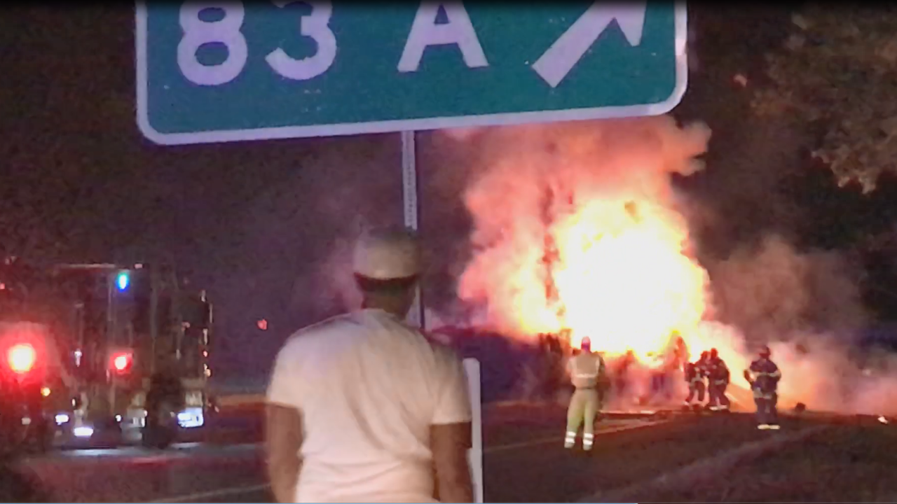 I-95 reopens following fiery crash