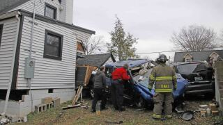 truck into home