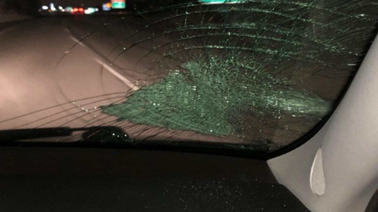 Chunk of ice smashes Milwaukee man's windshield