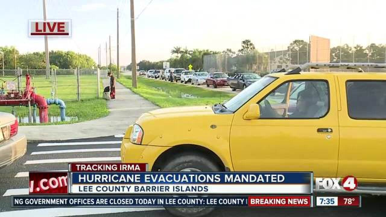 Lee Co. to begin evacuations and open shelters