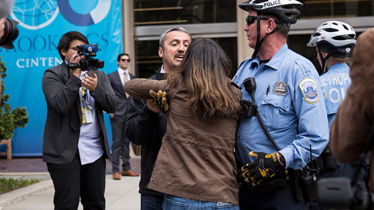 19 indicted for attacking protesters during Erdogan US visit