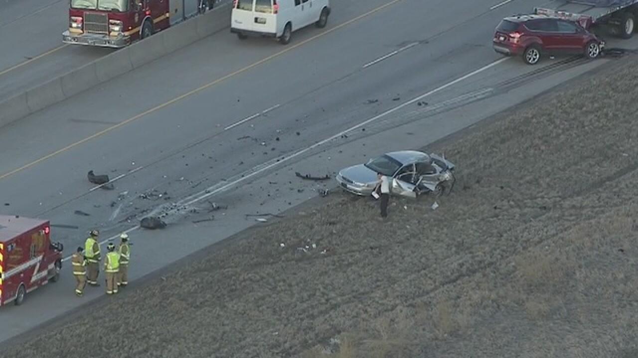 Major crash on WB I-70 near E-470