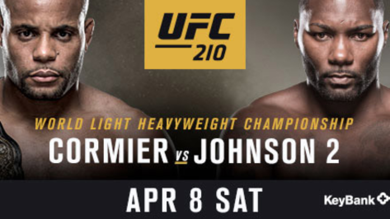 Events schedule for UFC 210 in Buffalo