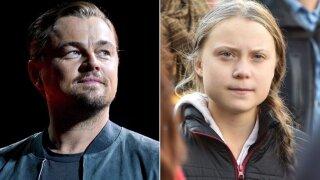 Leonardo DiCaprio and Greta Thunberg