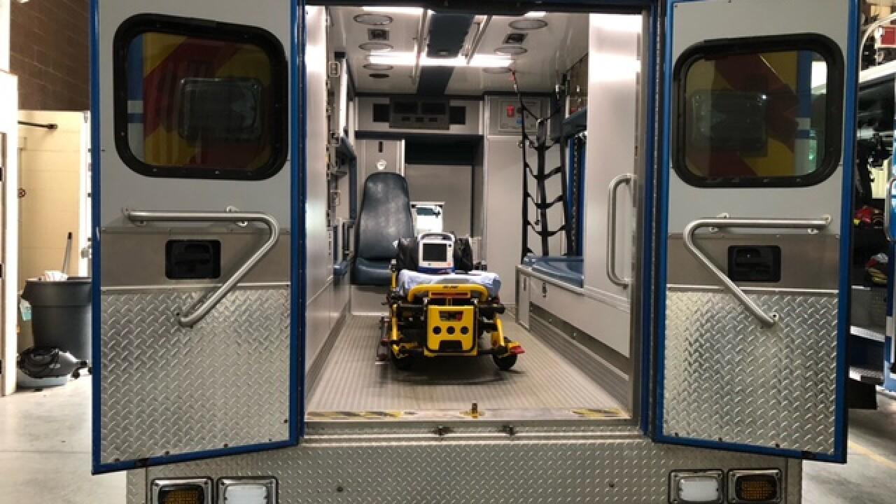 Empty ambulance