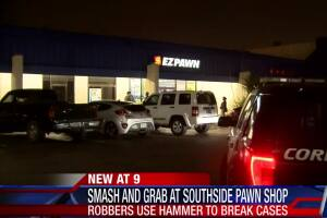 Southside pawn shop targeted by robbers