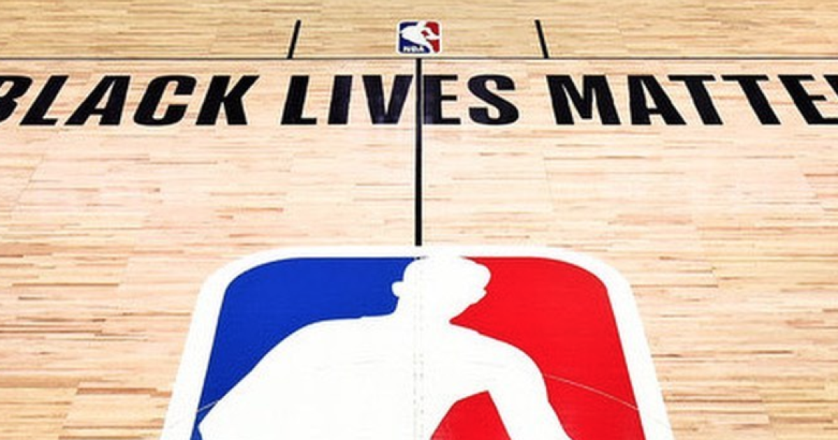 NBA unveils court painted with 'Black Lives Matter'