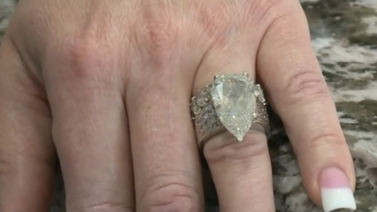 Woman finds her $400K ring in garbage dump