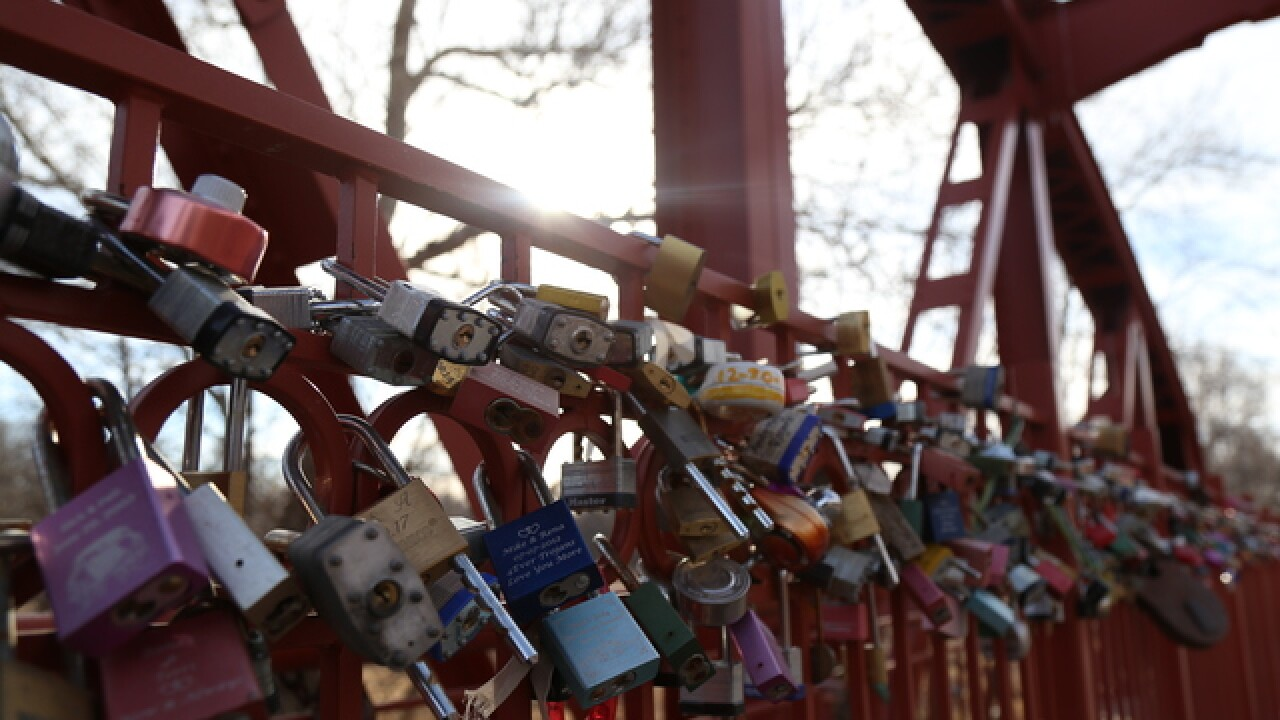 Lock in your love at the Old Red Bridge