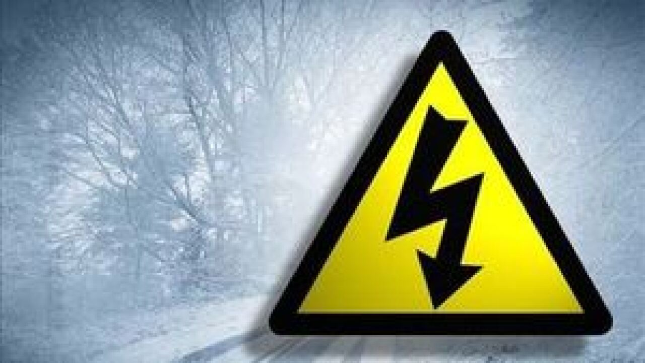 Hundreds still without power after winter storm arrives