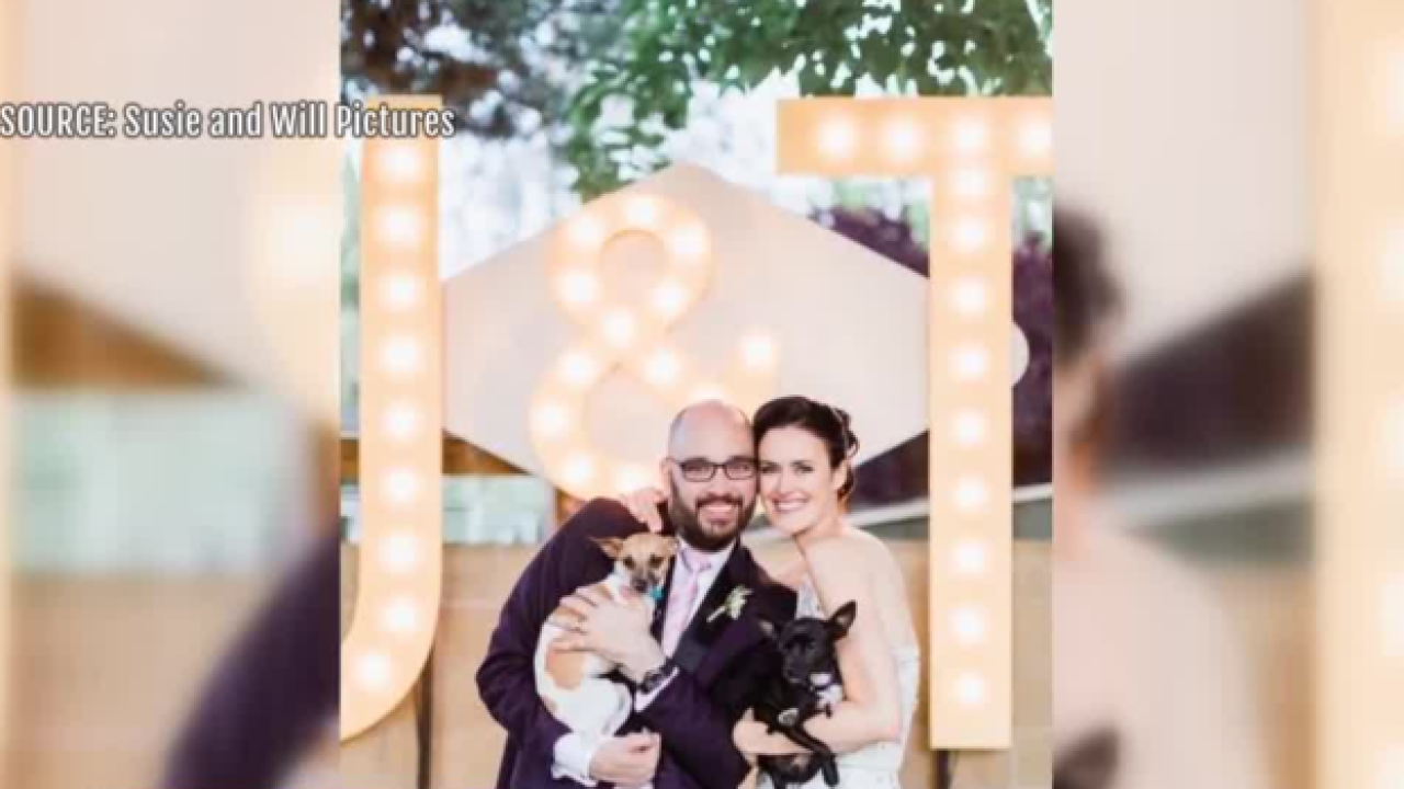 Newlywed donate $4,000 to animal rescue group