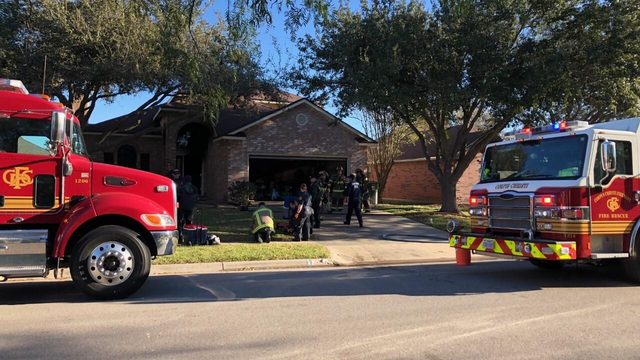 Firemen converge at blaze on Jessica Drive