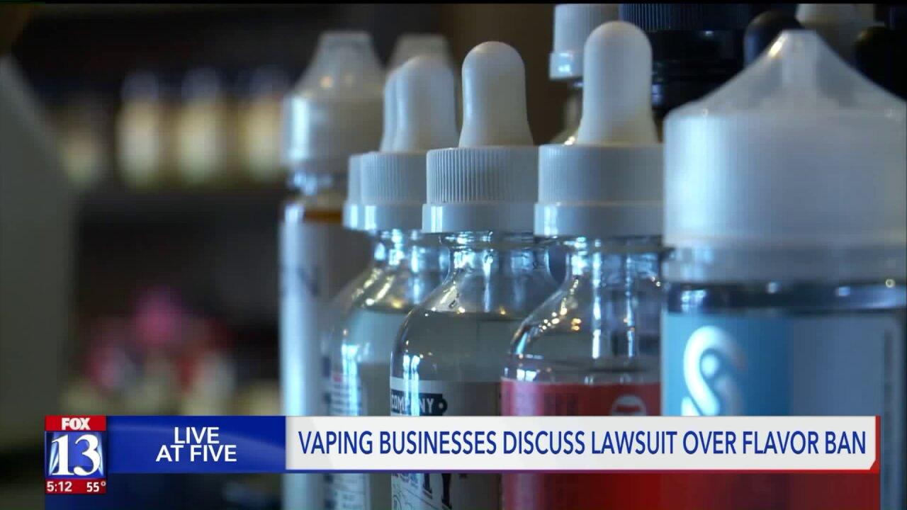 Utah vapors file lawsuit against health department over flavored e-liquid ban