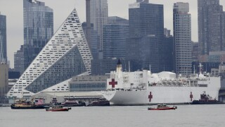 Navy hospital ship arrives in New York as state battles COVID-19