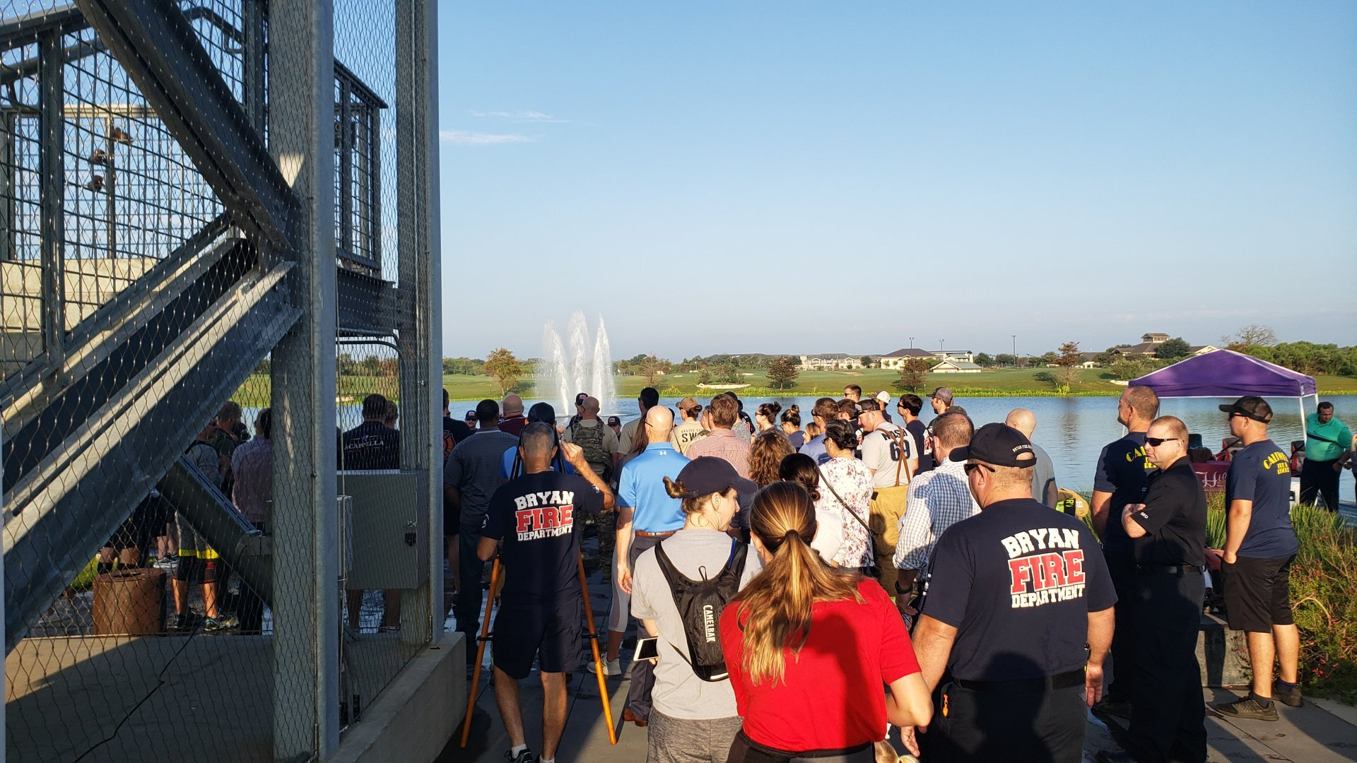 Bryan Fire Department at Annual 9/11 Memorial Stair Climb, The Stella Hotel / Lake Walk Town Center (Photo by: Bryan Fire Department)